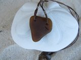 Rare Heart-Shaped Brown Sea-Glass Necklace