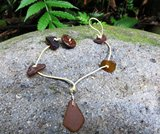Root Beer Brown Eco-Friendly Sea-Glass Anklet