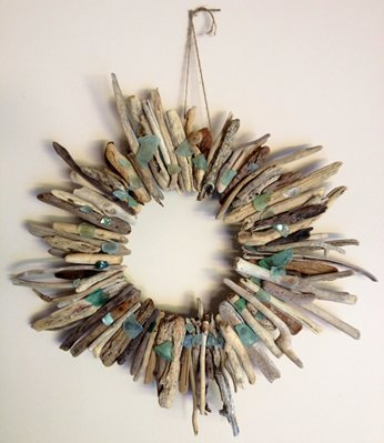 Beach Lover's Driftwood & Sea-Glass Wreath