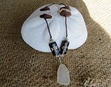 Frosty White Atlantic Mermaid Sea-Glass Necklace