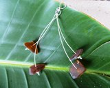 Amber Sea-Glass Dangle Earrings